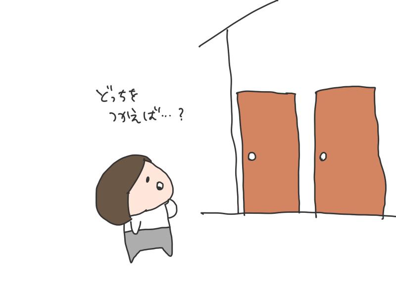 入り口ふたつ